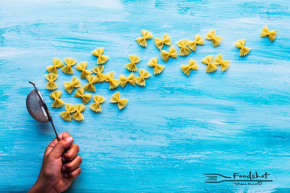 sky, blue, creativity, butterfly, farfalle, pasta
